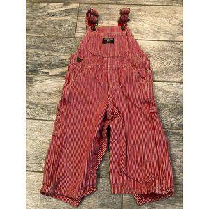 Vintage Osh Kosh B'Gosh Denim 18 Months Red white
